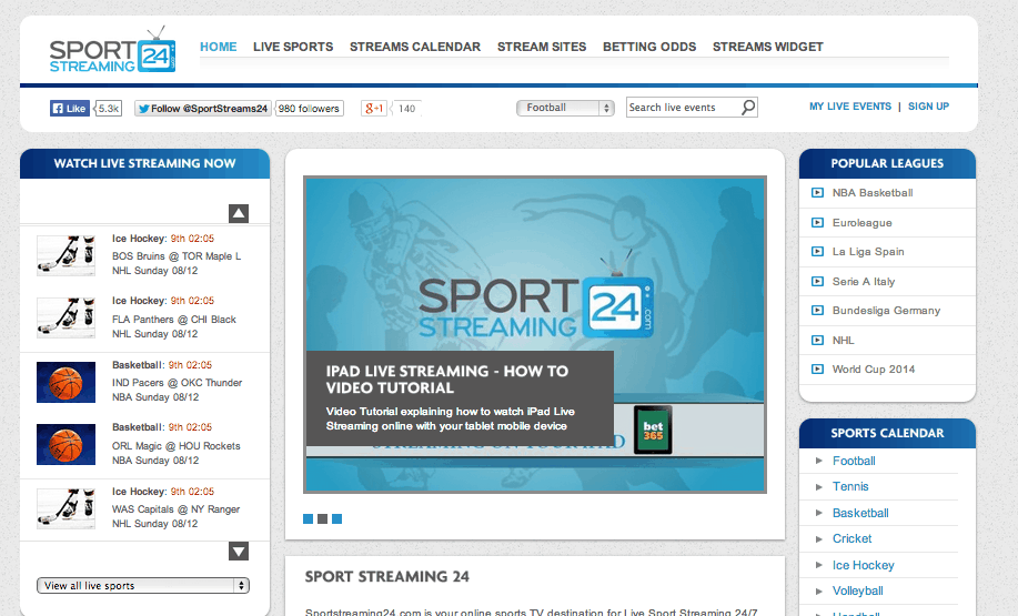 SportStreaming24.